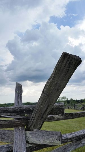 Civil War Fence Fences Storm Clouds Clouds And Sky Stormy Weather Manassas National Battlefield Park Manassasbattlefield Stormbrewing