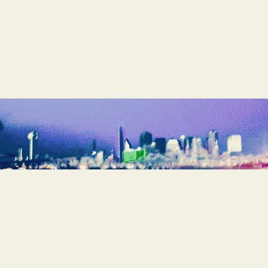 Dallas Skyline Lightning Strikes Scary Sky Sky