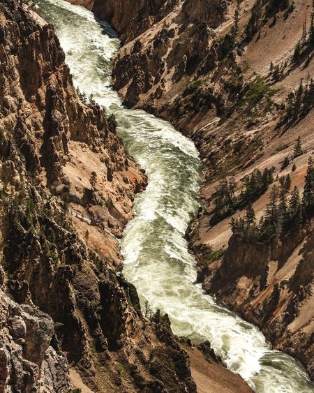 Yellowstone River Yellowstone National Park River Water High Angle View Motion Nature Beauty In Nature