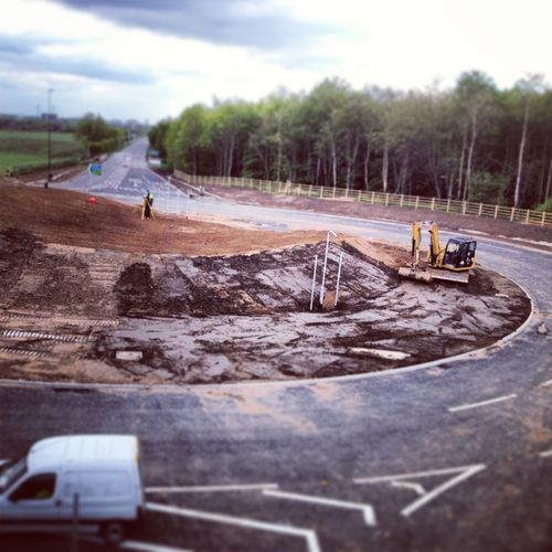 Huge new roundabout at Barlby/Osgodby junction #a19