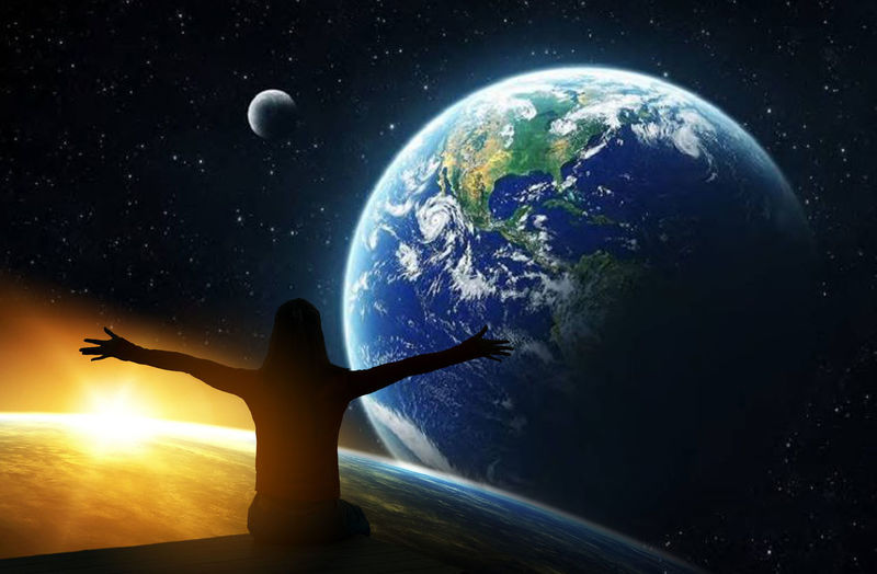 Space Planet Earth Human Arm Star - Space Astronomy Planet - Space Night Sky Nature Limb One Person Arms Raised Globe - Man Made Object Outdoors Space Exploration Water Human Limb Standing Orbiting Lens Flare