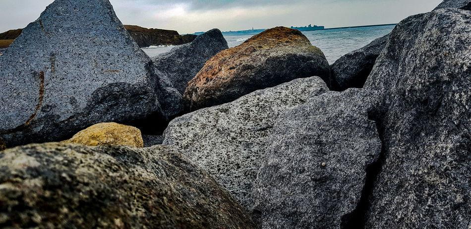 Beach Nature Sea Beach Water Sand Rock - Object Textured  Close-up Rock Boulder Rocky Coastline