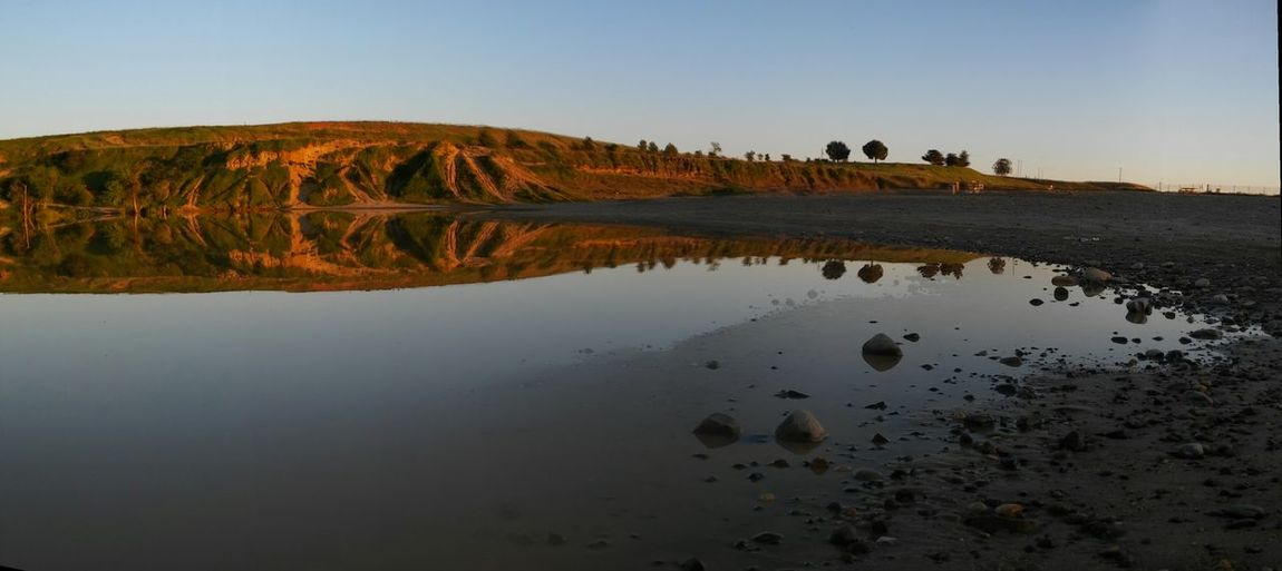 Panorama Copy Space California Drought And Floods Standing Water Hillscape Off The Beaten Path Water Reflections Off Road Park Water_collection Landscape Reflection Mountain Golden Hour Blue And Gold How is everyone stitching their panos? I've tried a dozen ways and none of them are very good... via Fotofall