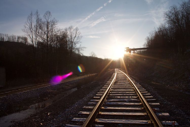 Adventures Of A Dirty Barefoot Hippie Wild&wonderful Railroad Track Traveler Beauty In Nature Transportation Personal Perspective Sunrise In January Let's Go. Together.
