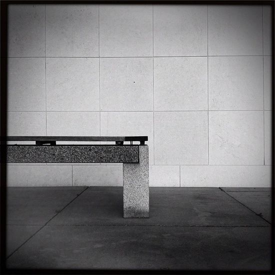 just a bench Hipstamatic Germany Lines Bench Bw Deutschland Bonn Bundeskunsthalle Museumsmeile