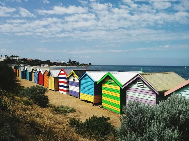 Brighton Beach Melbourne Beach Beach Huts Colourful Beach Hut