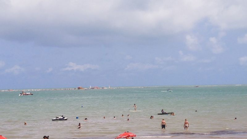 Sea Horizon Over Water Beach Water Large Group Of People Nature Outdoors Sky Beauty In Nature Vacations Scenics Day People Adult Adults Only