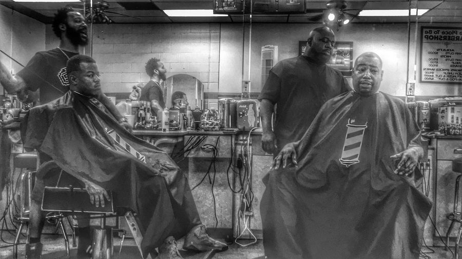 Barbershop People Photography Blackandwhite Urban Black And White HDR Hdr_Collection