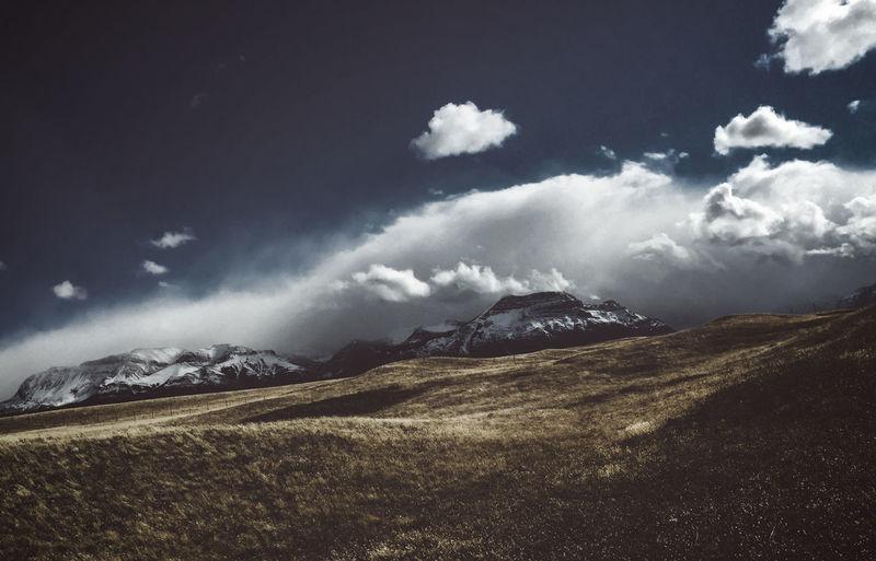 Waterton Dramatic Landscape Landscape Mountain Mountain Range No People Outdoors Sky