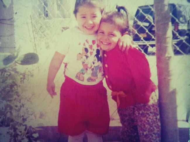 Tbt#my older sis(white)#me#how time flys by fast,,