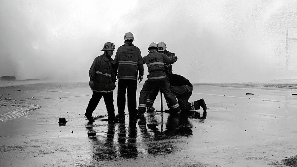 LAFD Firefighters Firemen At Work Water Main Break Hollywood The Street Photographer - 2017 EyeEm Awards EyeEmNewHere