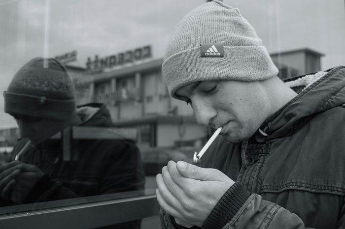 Snap A Stranger Only Men One Person Adults Only Men People Lifestyles Young Adult Warm Clothing One Man Only Outdoors Day Real People Hat Knit Hat Adult Street Photography By Ivan Maximov From My Point Of View Open Edit Exceptional Photographs Our Best Pics Monochrome Photography Black And White Photography Street Portrait