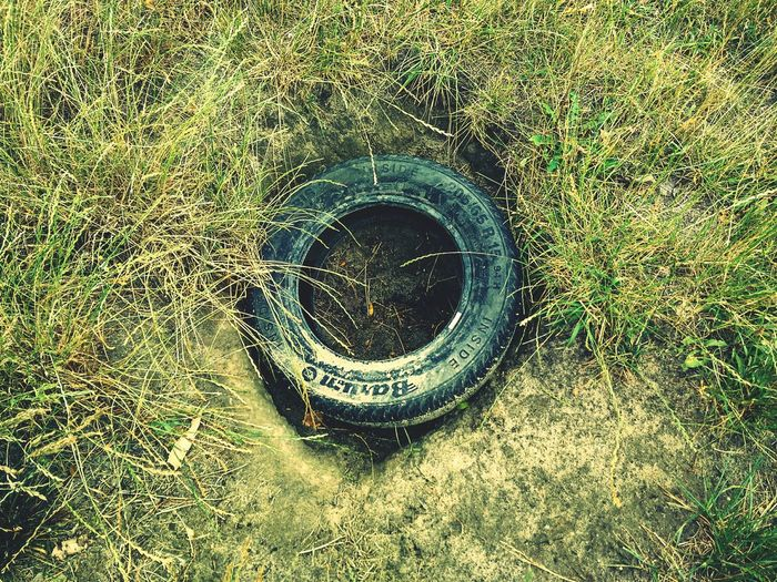 Outdoors No People Nature Grass EyeEmNewHere Close-up Day Old Old Tire Tire Tyre Car Old Tyre Car Tire Car Tyre Bottom Land Ground Excavates Leaves🌿 Leaves Plant Sand Eyeem Market
