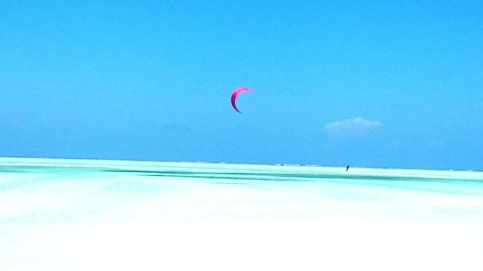 Kitesurfing in Zanzibar Africa Taking Photos Relaxing Sports Sports Photography Ocean Azure Sky Camera Beach