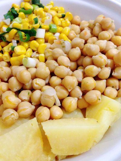 Potatoes Corn Chickpeas Dinner Healthy Food Vegetables Vegetarian Food Vegan Food 365 Photos In 2015