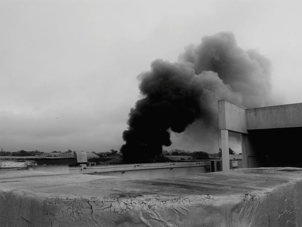 Fuego en la ciudad Smoke - Physical Structure Destruction Danger Industry Ominous Factory No People Day Outdoors Riot Sky The Street Photographer - 2017 EyeEm Awards Argentina Mardelplata Mobile Phone Art Is Everywhere The Architect - 2017 EyeEm Awards