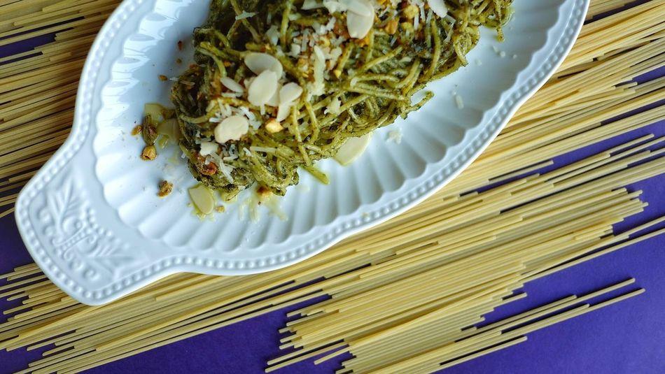 Pesto pasta Food And Drink Food Italian Food Freshness Indoors  No People Healthy Eating Food Stories