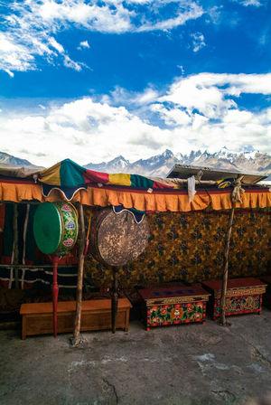 Karsha or Kursha Gompa at Zanskar valley Drums Folk Gompa India Jammu And Kashmir Karsha Kursha Ladakh Leh Monastery No People Padua Sky Travel Zanskar