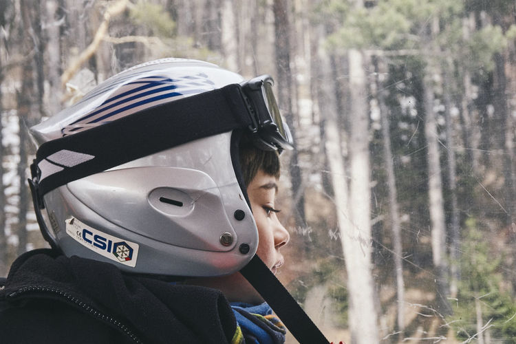 Boys Child Childhood Day Focus On Foreground Forest Headshot Helmet Innocence Land Leisure Activity Lifestyles Men Nature One Person Outdoors Portrait Real People Tree Warm Clothing EyeEmNewHere