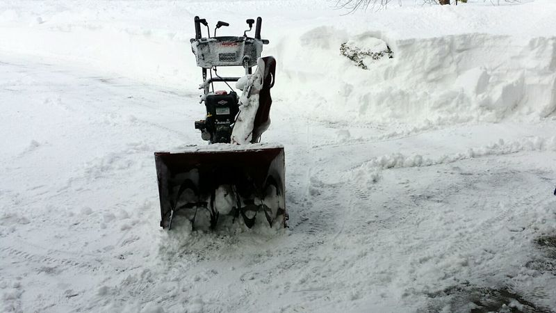 Snow Cold Temperature Outdoors Nature Winter Men Working Beauty In Nature No People Snowstorm Shoveling Snowblower Day Man Versus Nature Manvsnature  Be. Ready.