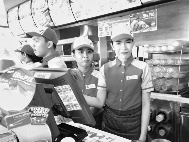 Jollibee Food Chain Service Crew Occupation Service Working Archival Food Service Occupation Prepared Food Food And Drink Industry