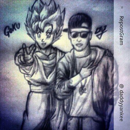 Bestpicture Pictures No vengo a jugar con este Tt TBT  Caric featuring! Feelingmusic Instaphoto Daddyyankee Caricatura Dragonballz Goku Repost Colombia