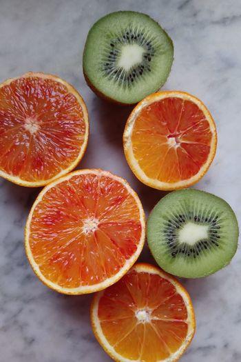 Orange Kiwi - Fruit Kiwi Fruit Citrus Fruit Healthy Eating Halved SLICE Grapefruit Blood Orange Food