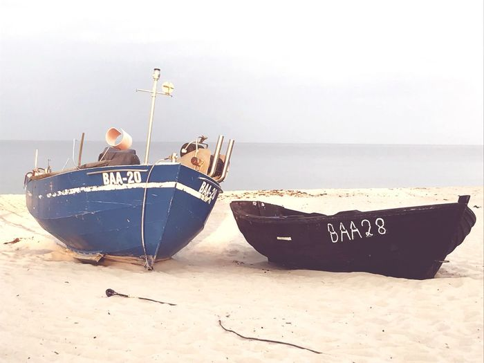 Landscape Beach Fishing Boat Boats Baabe Land Nature Horizon Over Water Tranquility Outdoors No People Sand