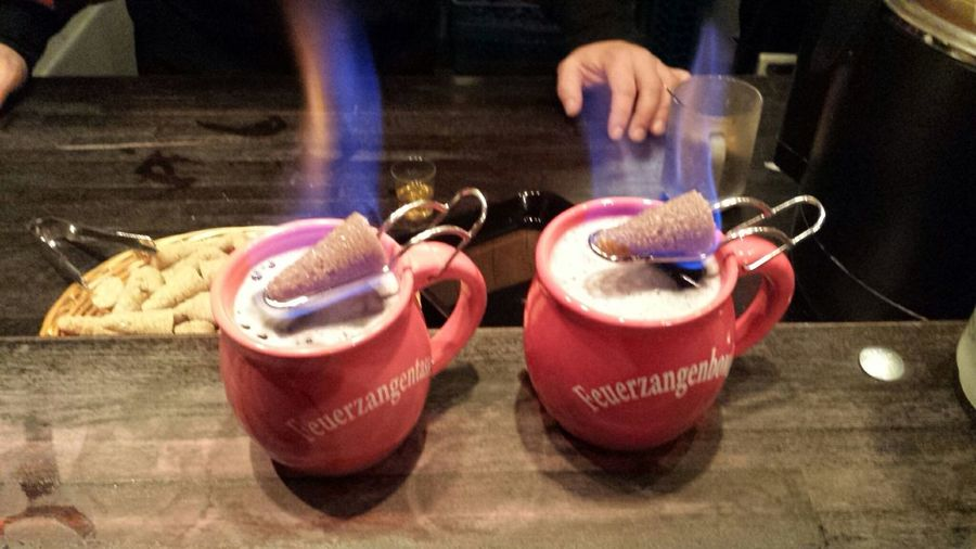 My Winter Favorites Feuerzangenbowle at Weihnachtsmarkt Heumarkt  in Köln Germany