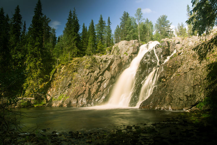 A beautiful waterfall in Finland Beauty In Nature Flowing Flowing Water Land Nature No People Outdoors River Scenics - Nature Water Waterfall