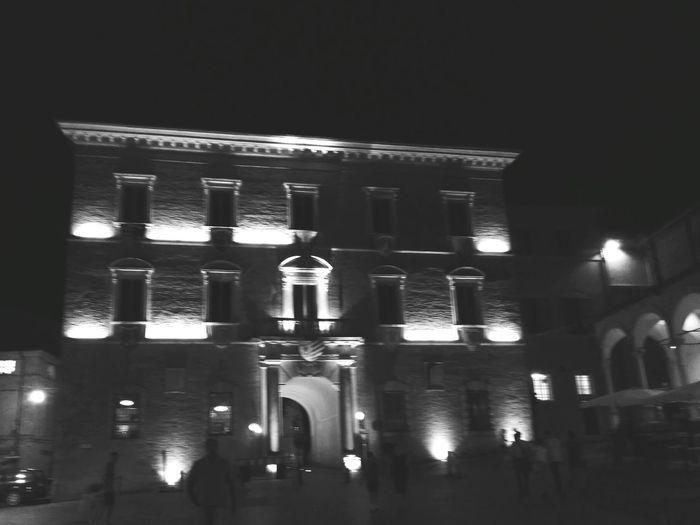 Piazza del popolo Fermo Night Illuminated No People Architecture Building Exterior Cityscape Outdoors City Built Structure Architecture Vacations