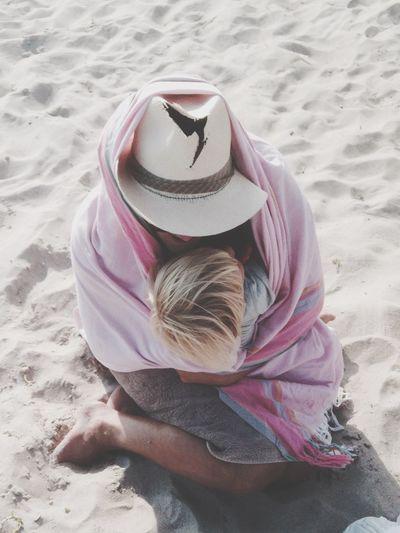 Man Boy Hat Beach Sand