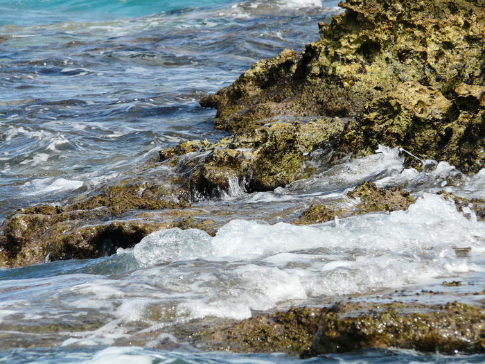 Beach Beauty In Nature Day Fakarava Motion Nature No People Outdoors Polynesian Power In Nature Rock - Object Scenics Sea Tranquility Water Wave