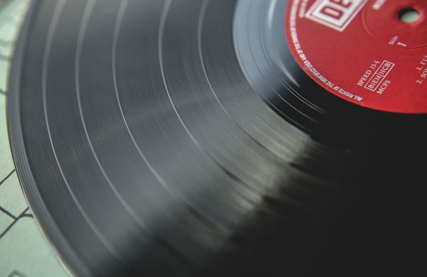 Vinyl Max - Vinyl Arts Culture And Entertainment Black Color Camera - Photographic Equipment Close-up Day Music No People Old-fashioned Photography Themes Record Record Player Needle Red Retro Styled Technology Vinyl Records