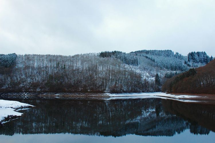 Frozen Dream Winter Snow Cold Temperature Nature Beauty In Nature Tranquility Tranquil Scene Lake Tree Reflection Frozen Water No People Day Non-urban Scene Outdoors Landscape Mountain Sky First Eyeem Photo