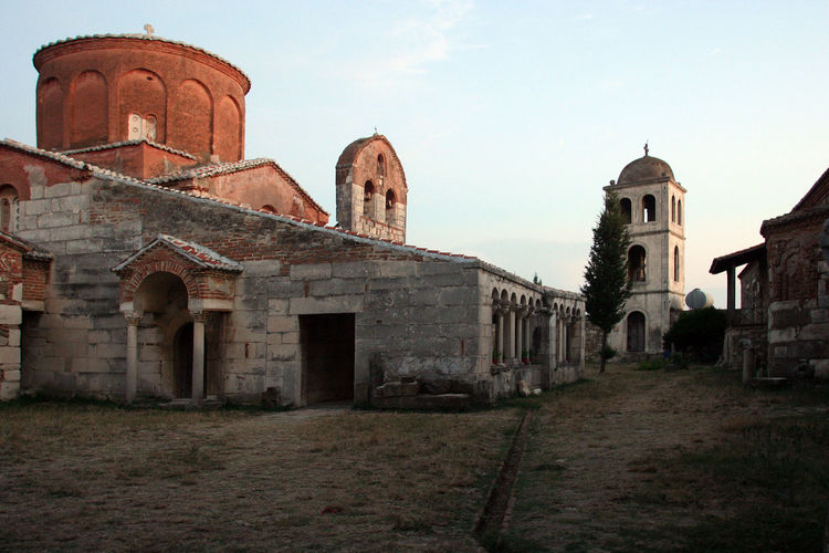 Orthodox monastery of Apollonia at sunset Albania Apollonia Church Monastery Ortodoxmonastery View Ancient Architecture Bell Tower Building Exterior Built Structure Church Architecture Exterior History No People Ortodox Church Outdoors Place Of Worship Religion Spirituality Sunset Tower