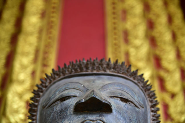 Buddha sculpture at a Buddhism temple in Vientiane, Laos Buddha Buddhism Temple Indochina LAO Vientiane Belief Buddha Sculpture Buddhism Laos Laos Travel Laos, Lao Trip Religion Religious  Temple