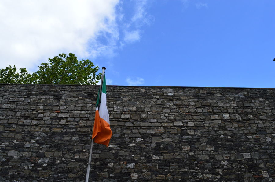Architecture Brick Wall Built Structure Dublin Flag Gaol Independence Ireland Low Angle View Nationalism Outdoors Travel