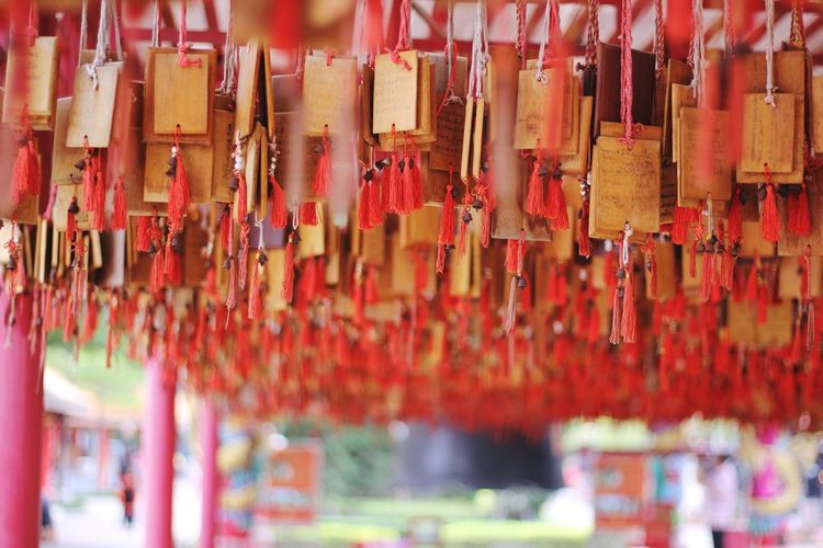 Multi Colored Hanging Scented Place Of Worship Religion Luck Cultures Full Frame Red Close-up Praying Hope Worshipper Incense Belief Forgiveness Religious Equipment Monk - Religious Occupation Shrine Crucifix Dreamcatcher Padlock Faith Latch Locked Religious Symbol Belly