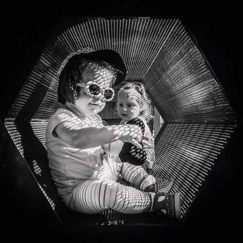 Eyeemphoto Toddler  Toddlers  Playground Kids Playing Black And White Monochrome Day Two Is Better Than One