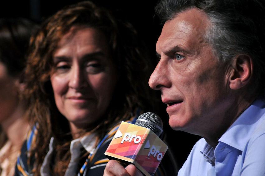 A Argentina Close-up Focus On Foreground Gabriela Michetti Headshot Human Face Mauricio Macri Person Portrait President Press Conference Vice President