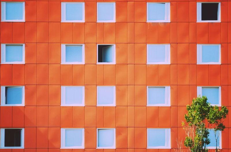 Full frame shot of orange building