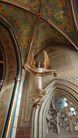Hanging From The Ceiling Angel Religion History Travel Destinations Architecture No People Indoors  Day