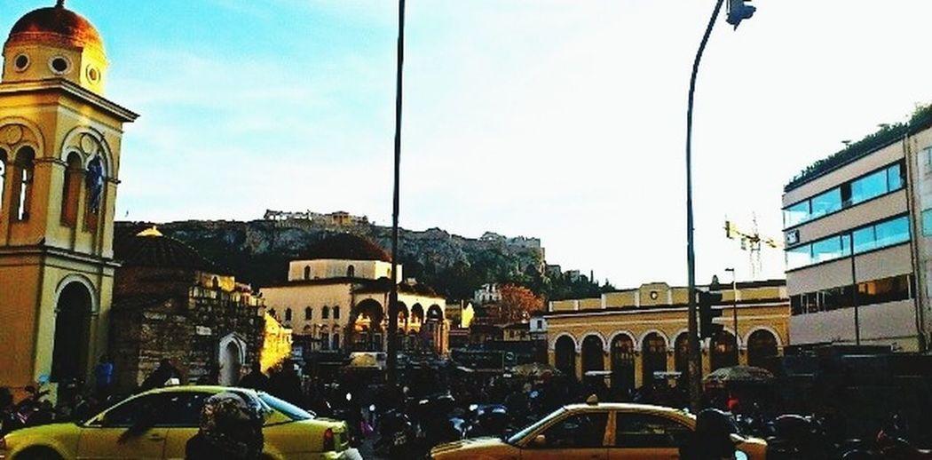 Sunnyday Walking Around Athens Downtown