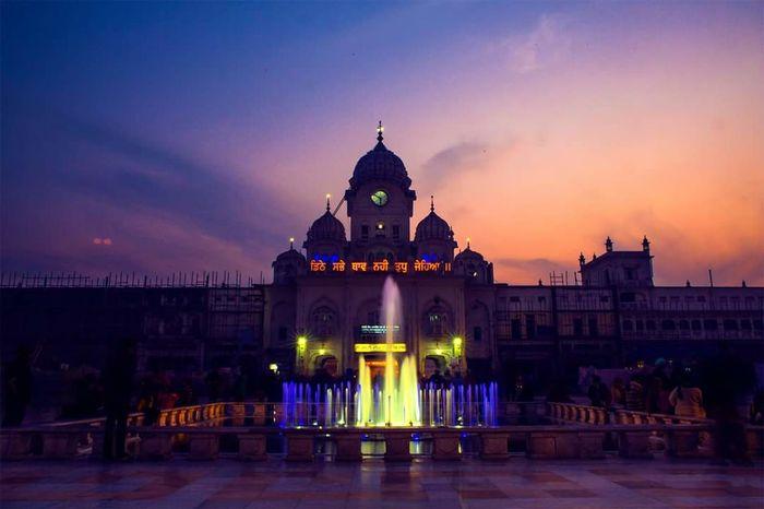 Architecture History Sunset Clock Face Travel Destinations GurdwaraSahib