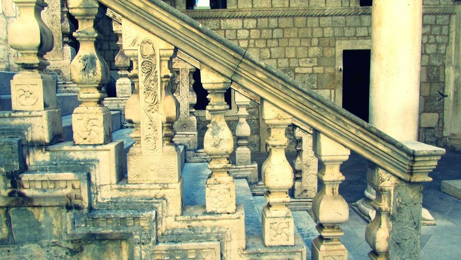 Stairs Walking Croatia Dubrovnik Built Structure Architectural Column Column No People Stone Material Stone Indoors  EyeEm Gallery Up