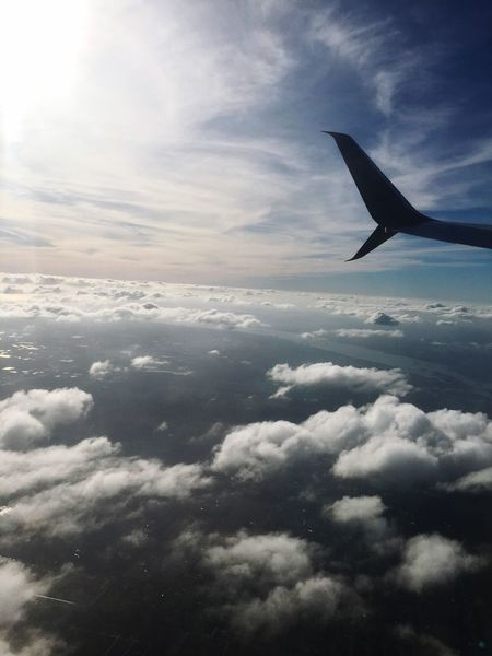 Sky Cloud - Sky Cloudscape Journey Nature Airplane Wing Airplane Beauty In Nature Day Flying Travel
