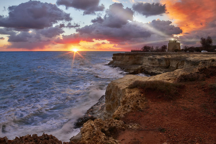 Colors Italia Mare Salento Puglia Sky And Clouds Clouds Faro Holyday Italy Landscape Sky Torre Sant'andrea