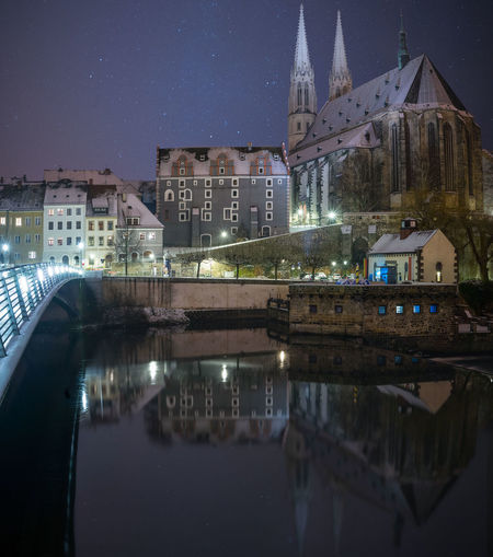 Görlitz / Zgorcelec Zgorzelec Architecture Building Exterior Built Structure City Görlitz Illuminated Longexposure Nature Neiße Night No People Outdoors Peterskirche Place Of Worship Reflection Religion Sky Spirituality Town Travel Destinations Water Waterfront