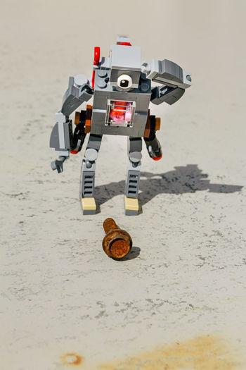 Toy car on beach